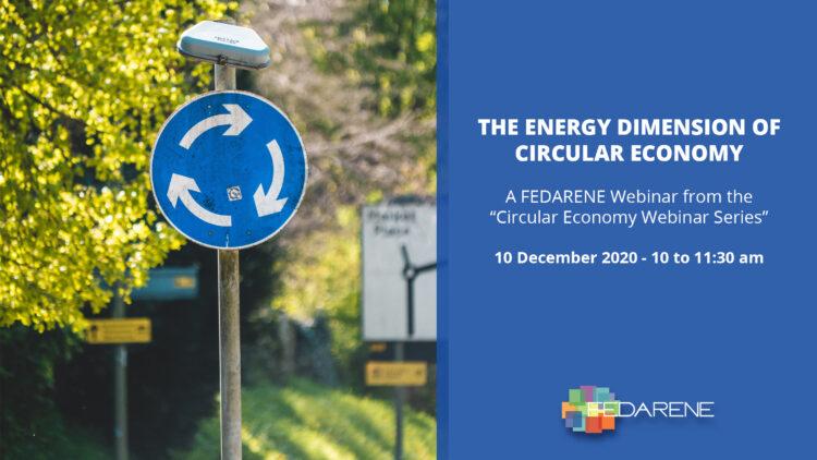 FEDARENE Webinar: The energy dimension of Circular Economy