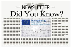 1st ManagEnergy Newsletter