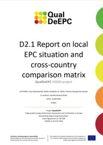 Report on local Energy Performance Certificates situation and cross-country comparison matrix