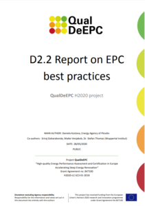 Report on Energy Performance Certificates best practices