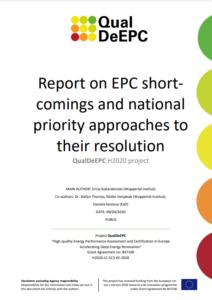 Energy Performance Certificates shortcomings