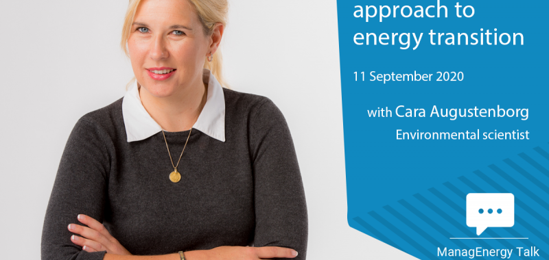 Watch the virtual ManagEnergy Talk with Cara Augustenborg