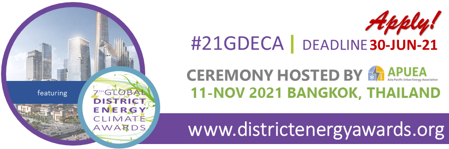 2021 Global District Energy Climate Awards – Applications are open!