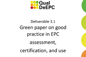 Green paper on good practice in Energy Performance Certificates assessment, certification, and use