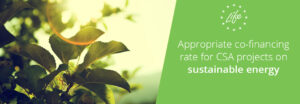 Joint Letter – Appropriate co-financing rate for LIFE CSA projects on sustainable energy