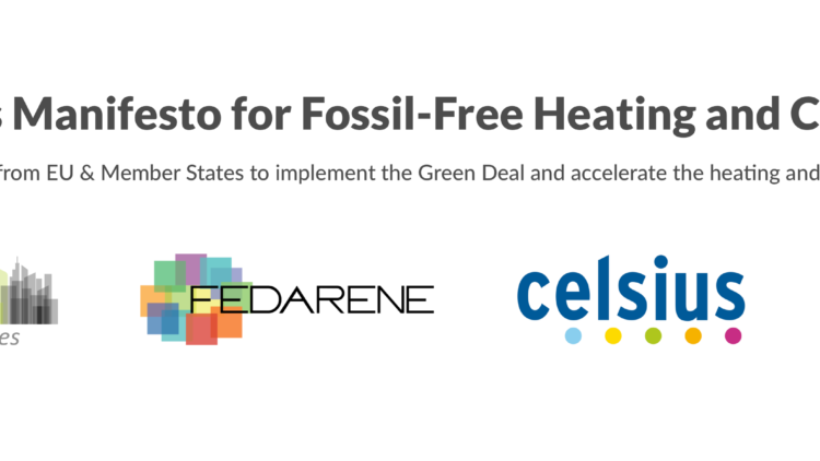 FEDARENE joins the Cities Manifesto for Fossil-Free Heating and Cooling