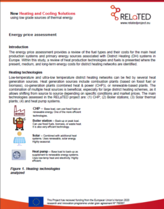 Energy price assessment associated with District Heating in Europe