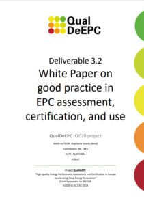 Enhanced EPC assessment, certification and use